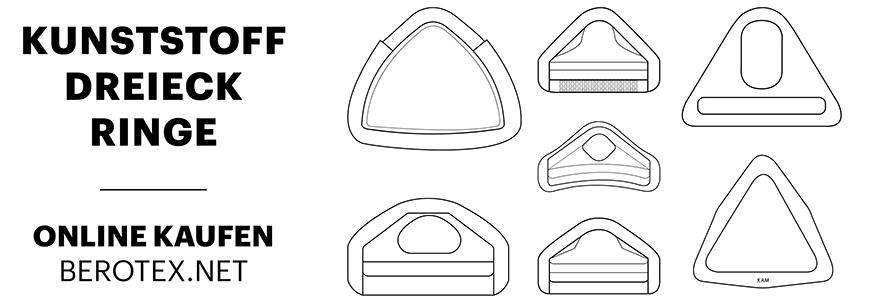 Kunststoff Dreieck Ringe