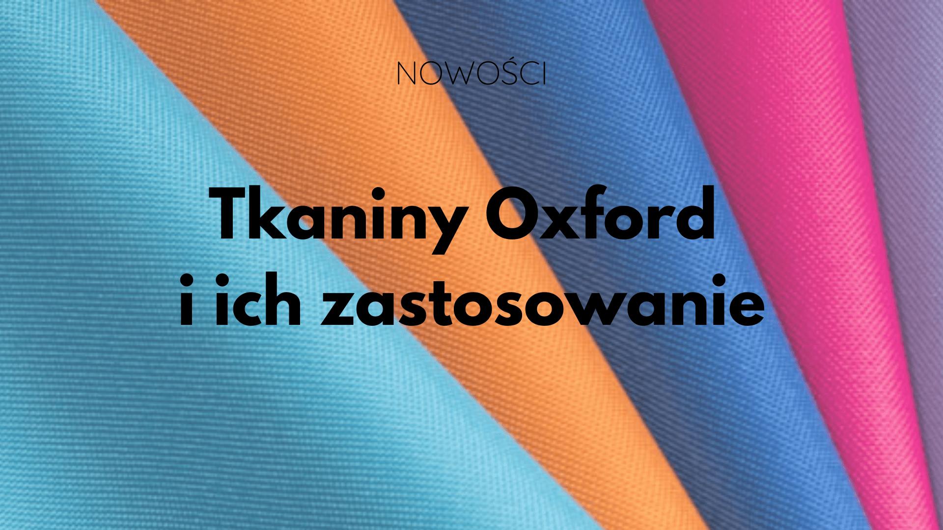 tkanina oxford zastosowanie