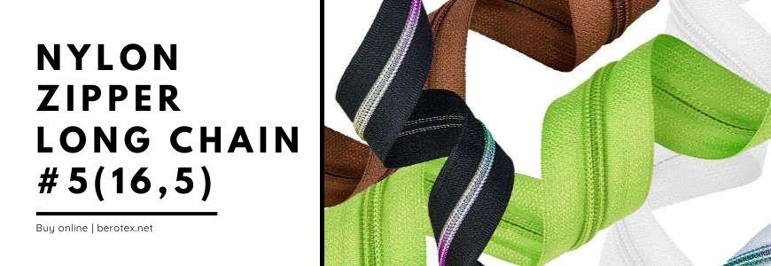 nylon zipper long chain 5 16,5