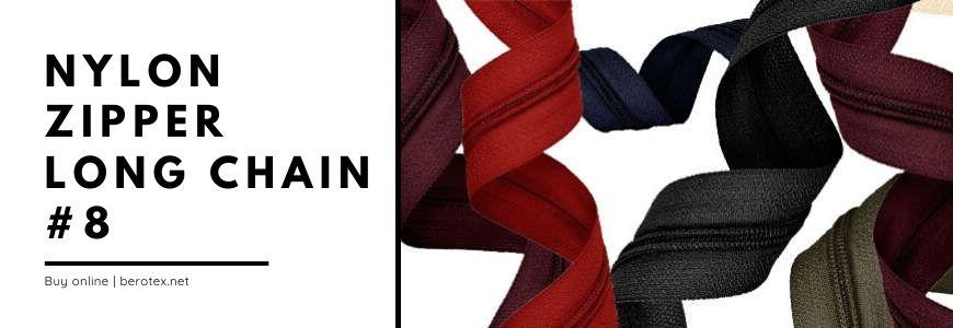 nylon zipper long 8
