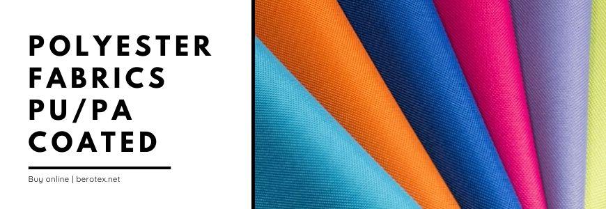 polyester fabrics pu pa coated