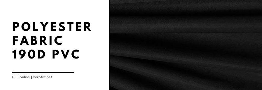 polyester fabric 190D PVC