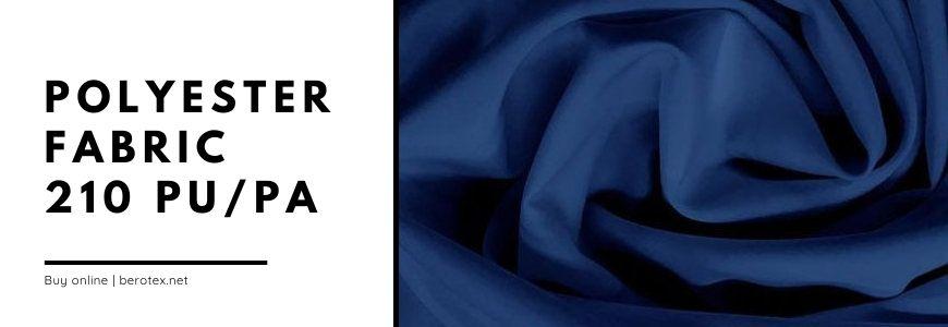 polyester fabric 210 pu pa