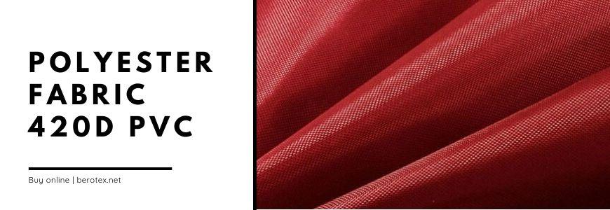polyester fabric 420D PVC