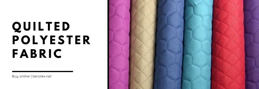 Quilted polyester fabric