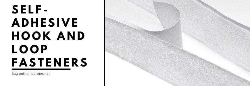Self-adhesive hook and loop fasteners